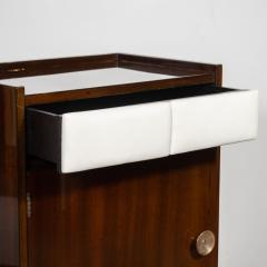 Gilbert Rohde Pair of Art Deco Bookmatched Mahogany and Leather Nightstands by Gilbert Rohde - 1485161