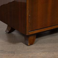 Gilbert Rohde Pair of Art Deco Bookmatched Mahogany and Leather Nightstands by Gilbert Rohde - 1485162