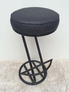 Gilbert Rohde Pair of Gilbert Rohde Z Style Bar Stools Black Enamel - 1823776