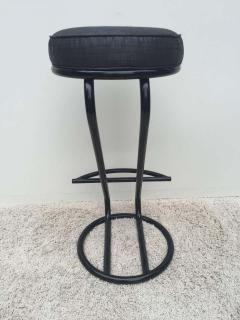 Gilbert Rohde Pair of Gilbert Rohde Z Style Bar Stools Black Enamel - 1823777