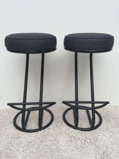 Gilbert Rohde Pair of Gilbert Rohde Z Style Bar Stools Black Enamel - 1823778