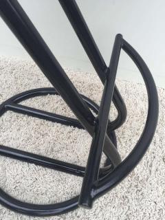 Gilbert Rohde Pair of Gilbert Rohde Z Style Bar Stools Black Enamel - 1823783