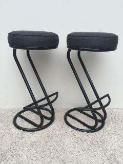 Gilbert Rohde Pair of Gilbert Rohde Z Style Bar Stools Black Enamel - 1823784