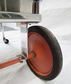 Gilbert Rohde Rolling Chrome Bar Cart Gilbert Rohde for Troy Sunshade Art Deco circa 1933 - 731439