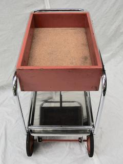 Gilbert Rohde Rolling Chrome Bar Cart Gilbert Rohde for Troy Sunshade Art Deco circa 1933 - 731443