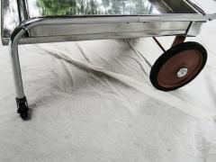 Gilbert Rohde Rolling Chrome Bar Cart Gilbert Rohde for Troy Sunshade Art Deco circa 1933 - 731446