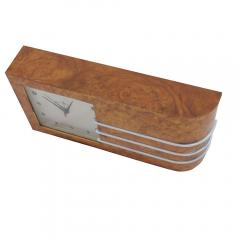 Gilbert Rohde Streamline Burl Wood Clock by Gilbert Rohde - 1068225