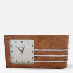 Gilbert Rohde Streamline Burl Wood Clock by Gilbert Rohde - 1069051