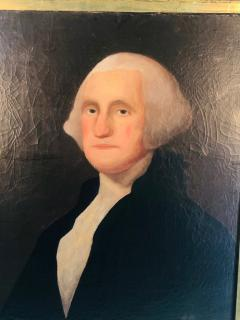 Gilbert Stuart Newton Exceptional George Washington Portrait After Gilbert Stuart - 1041143
