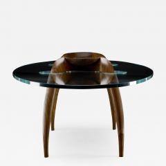 Gildas Berthelot Pragmatism Walnut Coffee Table Signed by Gildas Berthelot - 1160770