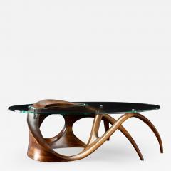 Gildas Berthelot Sculpted Black Walnut Coffee Table Signed by Gildas Berthelot - 1160774