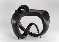 Gildas Berthelot Sculpted Ebonized Maple Gueridon Signed by Gildas Berthelot - 1358505