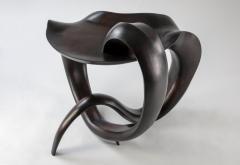 Gildas Berthelot Sculpted Ebonized Maple Gueridon Signed by Gildas Berthelot - 1358514