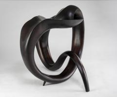 Gildas Berthelot Sculpted Ebonized Maple Gueridon Signed by Gildas Berthelot - 1358515