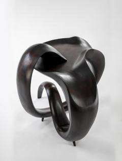 Gildas Berthelot Sculpted Ebonized Maple Gueridon Signed by Gildas Berthelot - 1358517
