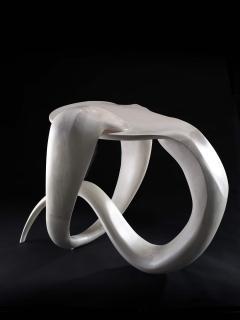 Gildas Berthelot Sculpted Maple Gueridon Signed by Gildas Berthelot - 1160125