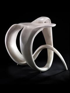 Gildas Berthelot Sculpted Maple Gueridon Signed by Gildas Berthelot - 1160126