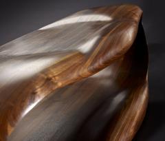 Gildas Berthelot Television Stand in Sculpted Black Walnut by Gildas Berthelot - 1160104