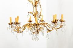 Gilded 8 stem chandelier - 1614770