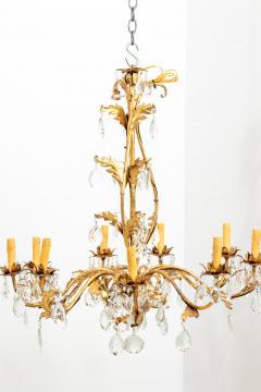 Gilded 8 stem chandelier - 1614771