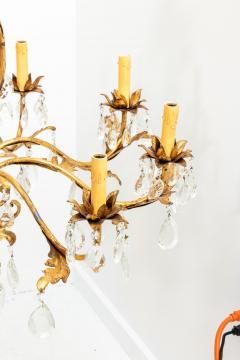 Gilded 8 stem chandelier - 1614782