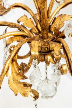 Gilded 8 stem chandelier - 1614784
