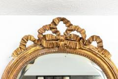 Gilded Oval mirror with Bow Detail - 1614678