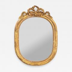 Gilded Oval mirror with Bow Detail - 1618177