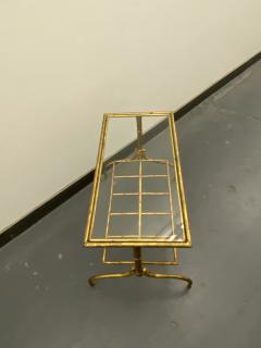 Gilded Wrought Iron Two Tier Table With Glass Top - 1166974