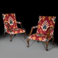 Giles Grendey Close Pair of George II Gainsborough Armchairs - 918831