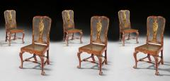 Giles Grendey Rare Set of Six 18th Century Laquer Chinoserie Chairs Pairs Available  - 1137613