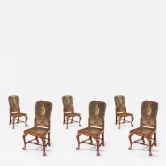 Giles Grendey Rare Set of Six 18th Century Laquer Chinoserie Chairs Pairs Available  - 1138213