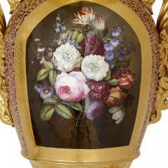 Gille Jeune Pair of large Gille Jeune Paris porcelain vases - 1459619
