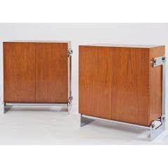 Gilles Bouchez Pair of Walnut Cabinets by Gilles Bouchez France 1970s - 291556
