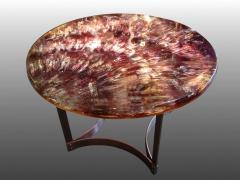 Gilles Charbin Large gueridon in resin and stainless steel Gilles Charbin 1973 - 1583526