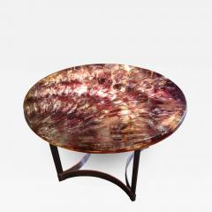 Gilles Charbin Large gueridon in resin and stainless steel Gilles Charbin 1973 - 1584773