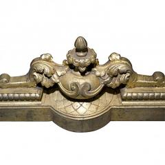 Gilt Brass Fireplace Fender in The Rococo Revival Louis XVI Style - 137570