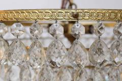 Gilt Brass and Crystal Mid Century Modern Chandelier by Palwa - 1798737
