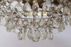 Gilt Brass and Crystal Mid Century Modern Chandelier by Palwa - 1798741