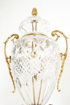 Gilt Bronze Mounted Cut Crystal Urns - 1130239