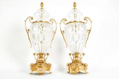 Gilt Bronze Mounted Cut Crystal Urns - 1130245