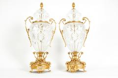 Gilt Bronze Mounted Cut Crystal Urns - 1130246