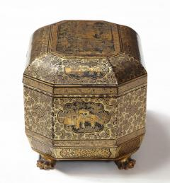 Gilt Lacquer Chinese Tea Caddy - 1946429