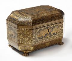 Gilt Lacquer Chinese Tea Caddy - 1946430