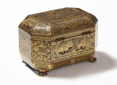 Gilt Lacquer Chinese Tea Caddy - 1946431