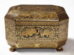 Gilt Lacquer Chinese Tea Caddy - 1946432