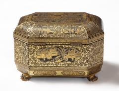 Gilt Lacquer Chinese Tea Caddy - 1946433