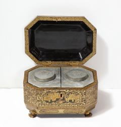 Gilt Lacquer Chinese Tea Caddy - 1946434