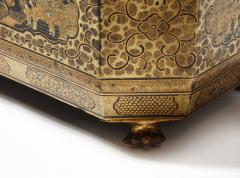 Gilt Lacquer Chinese Tea Caddy - 1946436