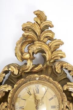 Gilt Wood Framed Swedish Wall Cartel Clock - 2106930